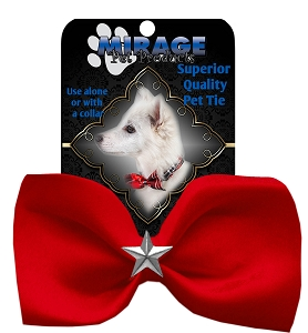 Silver Star Widget Pet Bowtie Red